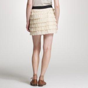 J Crew Collection sz 8 Silk Tiered Brique Skirt